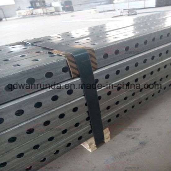 "1.75"" X 1.75"" 14ga Galvanized Square Perforated Tube"