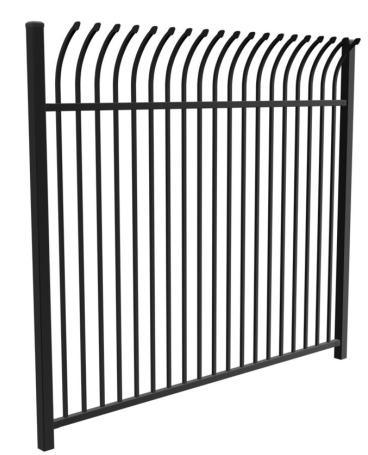Painted/Powder Coating Steel Fence Rail Welded by Steel Rold