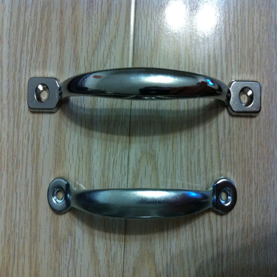 Steel Door Handle with Polished Surface