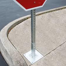 Traffic Sign Post Perforated and Telescoping Square Tube with Galvanized Surface