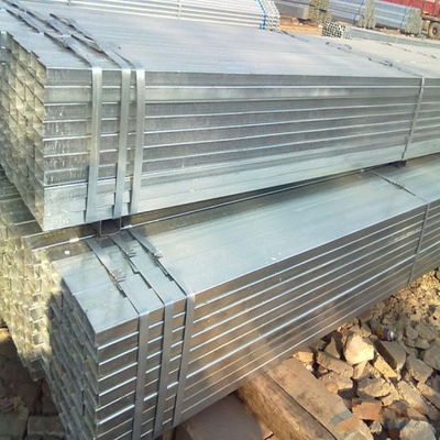40X80X6mm Square Hot DIP Galvanized Tube