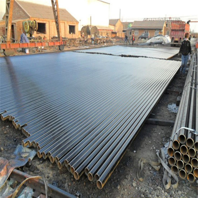 Black Painted ERW Steel Pipe with Bevel Ends